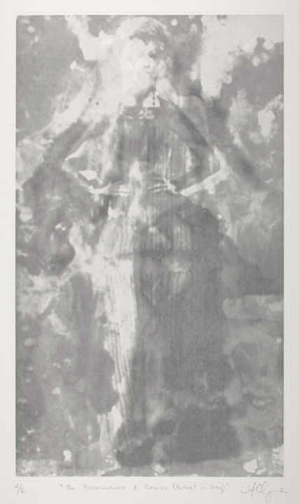 "Amanda Clyne, ""The Precariousness of Presence (Portrait in Grey)"", photogravure, 2013"