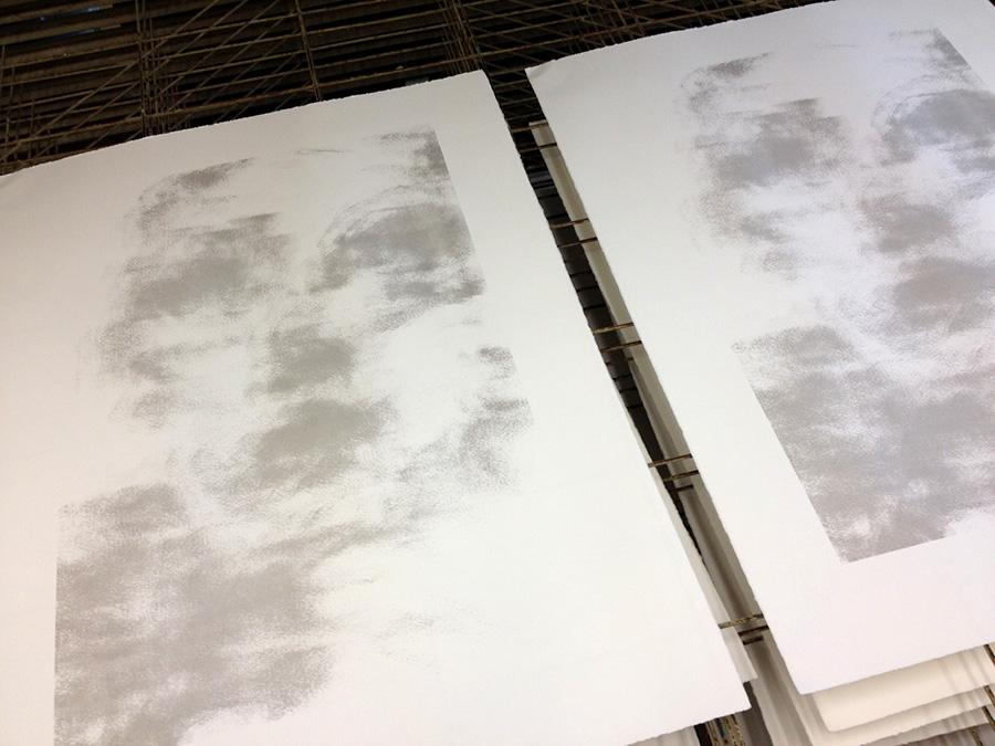 Amanda Clyne, screenprints in process