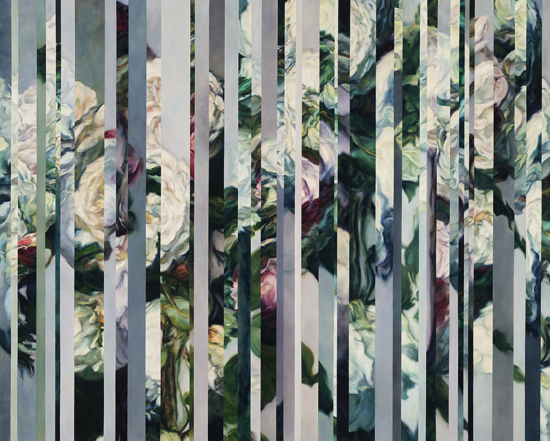 Amanda Clyne, Wallflower #6, oil on canvas, 2017