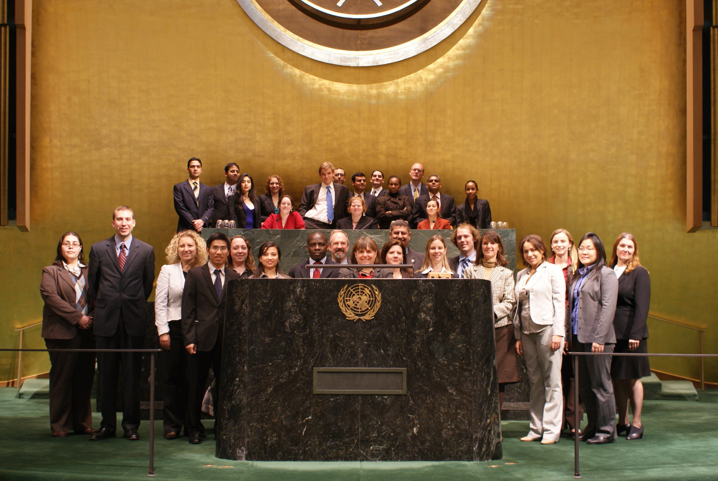 Maxwell Humanitarian Action Class in New York at the UN General Assembly (2008)