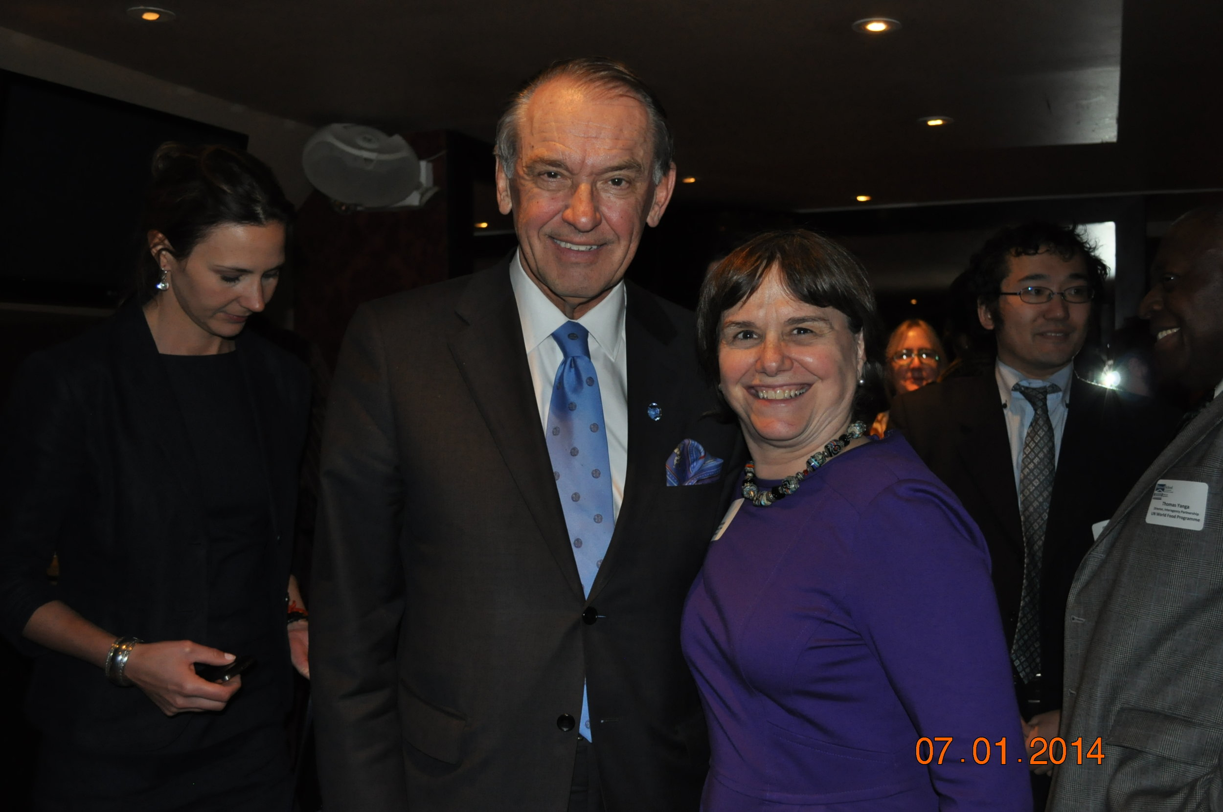 Maxwell UN Class in New York meeting with UN Deputy Secretary General Jan Eliasson (2014)