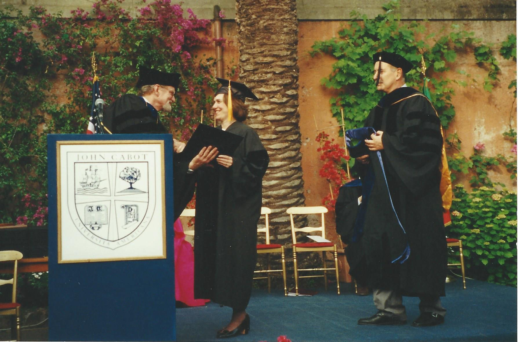 John Cabot University Honorary Degree in Rome, Italy (2001)