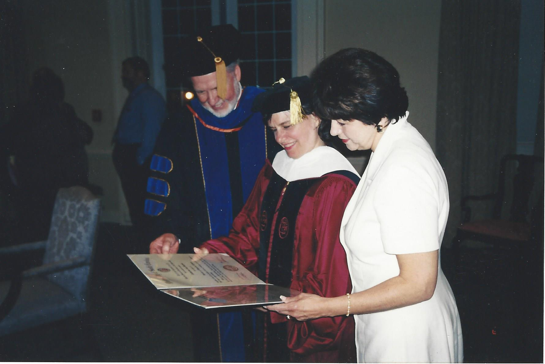 University of South Carolina Honorary Degree with Chancellor John Stockwell and Professor Diane Vecchio (2003)