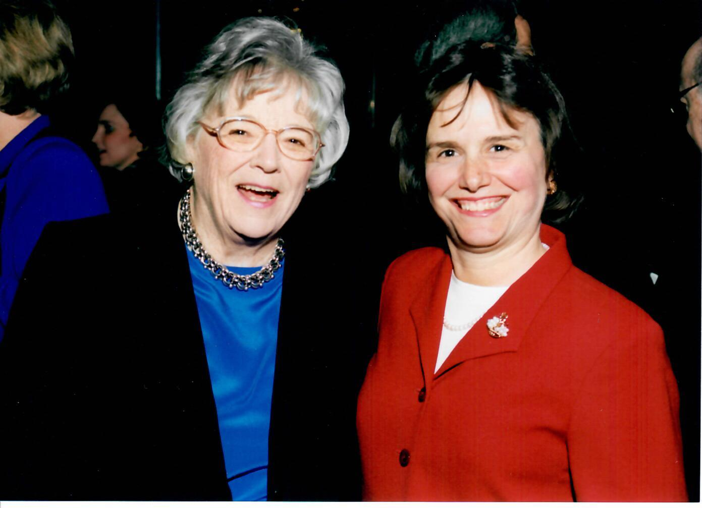 Catherine Bertini with Mary Ann Tinklepaugh Fish, one of her first mentors (2002)