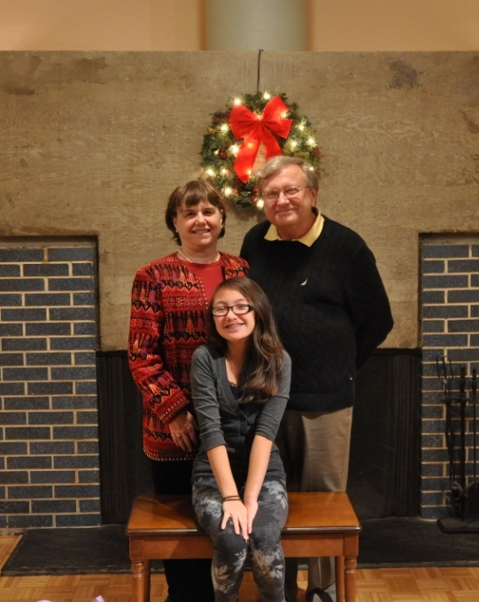 Me with my husband Tom and daughter Vivienne Knobel (2012).