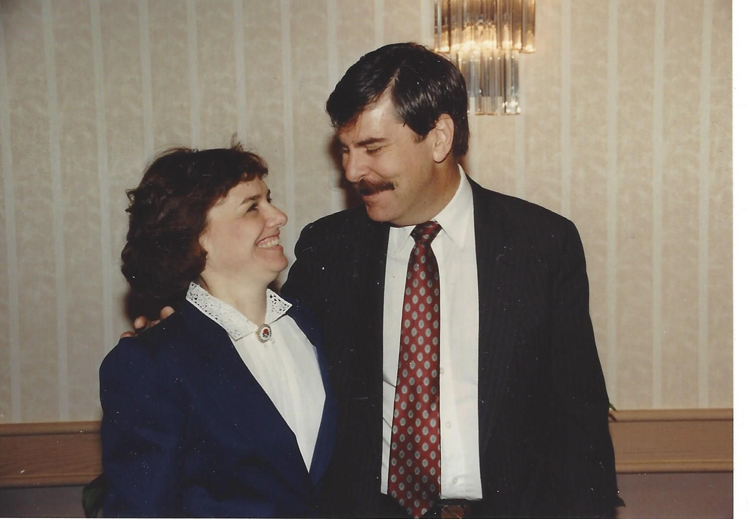 Catherine Bertini with Larry Love, Deputy Director of the Office of Family Assistance, Department of HHS (1988)