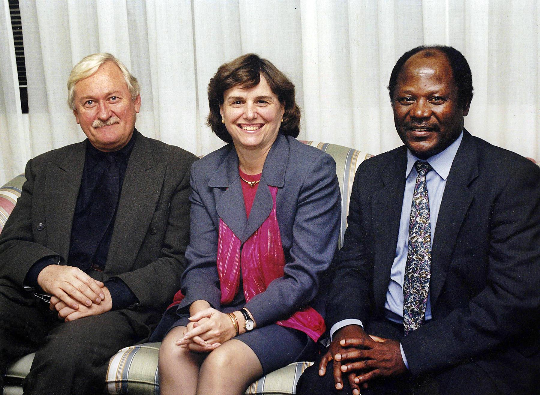 WFP senior leadership dream team Assisatant Executive Director Jean-Jacques Graisse, Executive Director Catherine Bertini, and Deputy Executive Director Namanga Ngongi (1999)