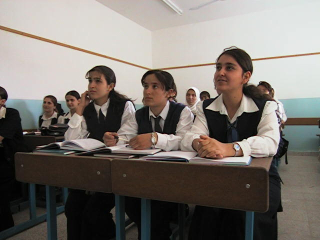 Girls in school in Iraq (2000)