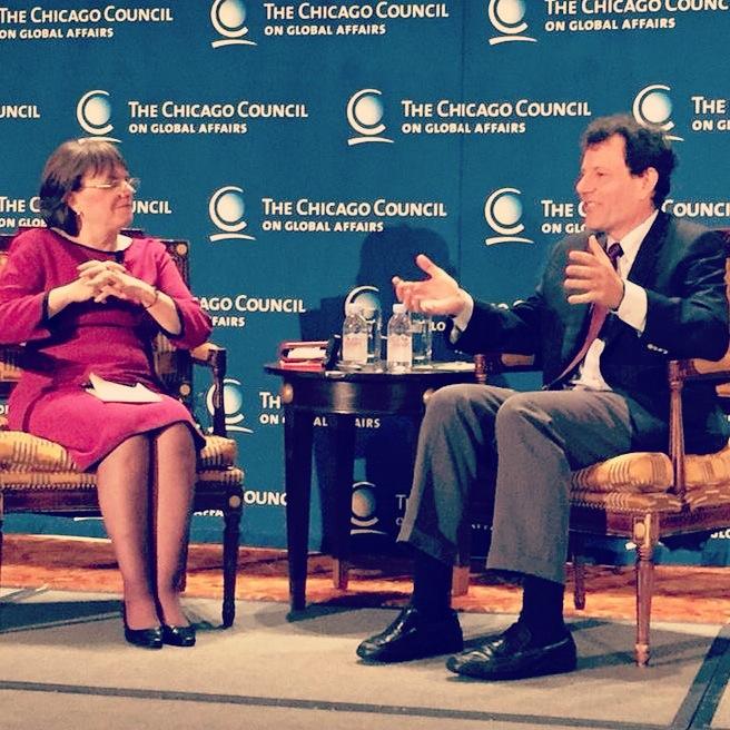 Interviewing Nick Kristof in Chicago (2014)