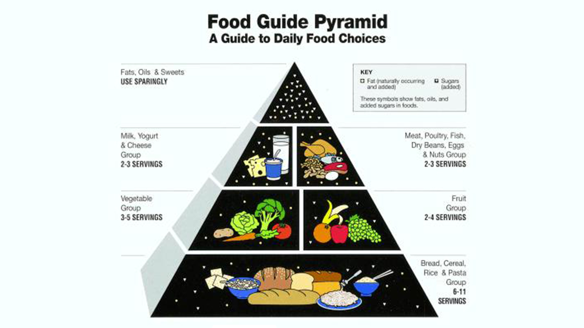USDA Human Nutrition Information Service created Food Guide Pyramid (1991)