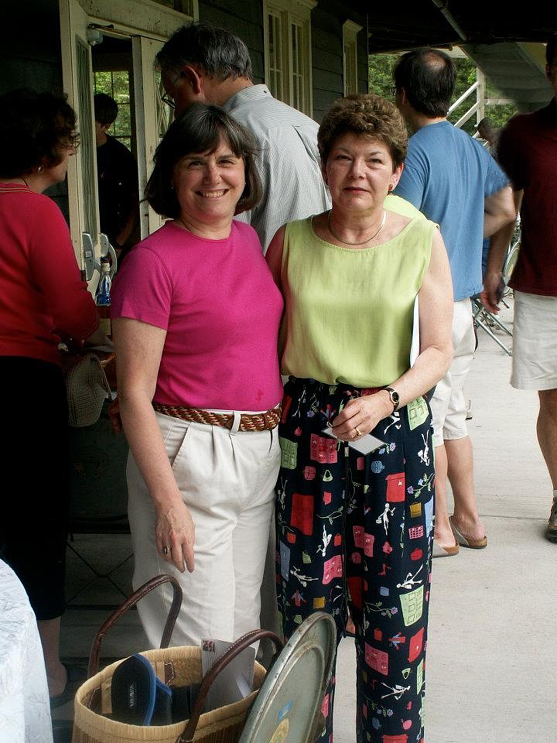 Catherine Bertini with her long time friend Gail Hill Gordon; they have been friends since Teen Age Republicans in 1966.