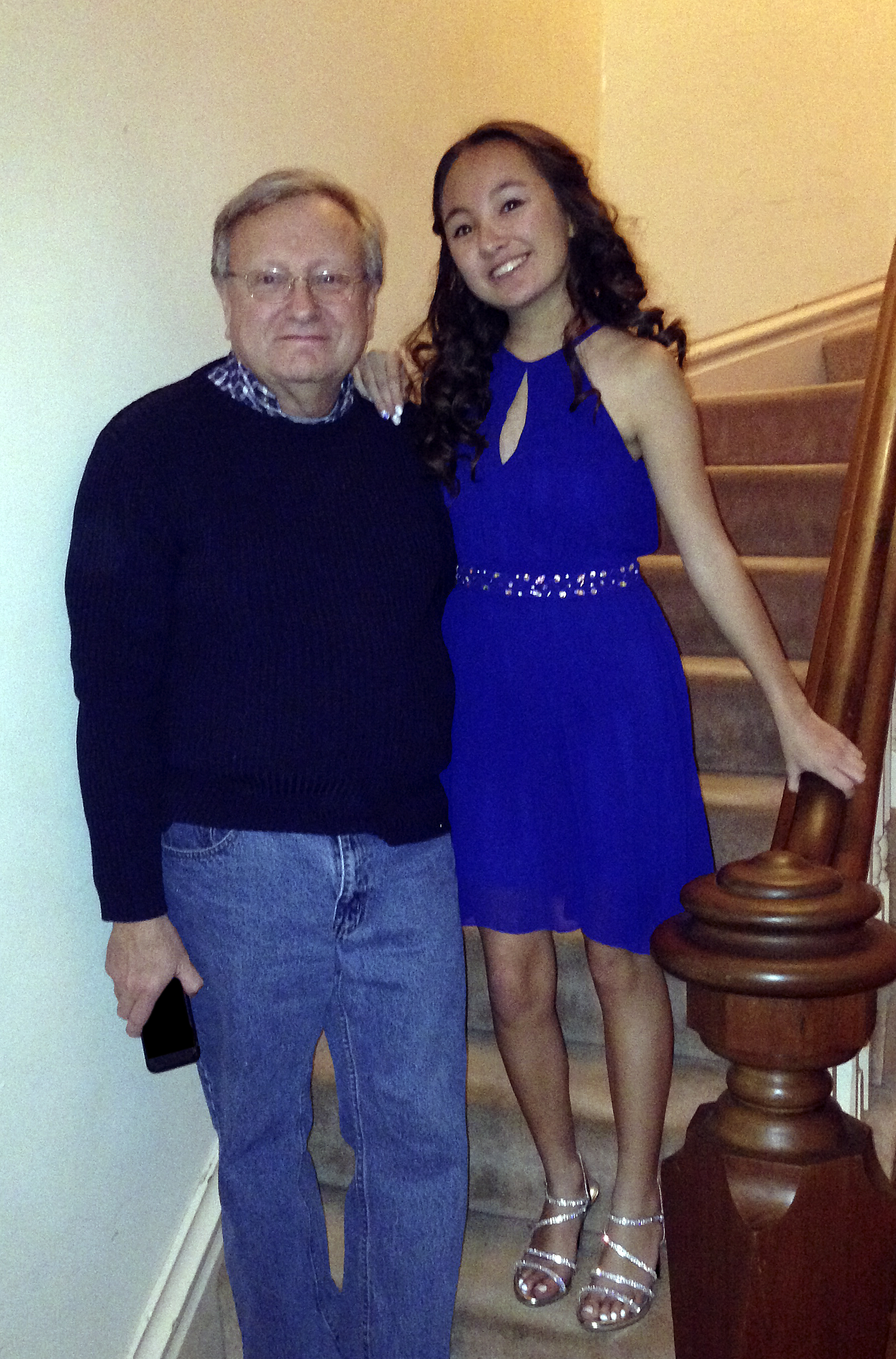 Vivi with her father (2016)