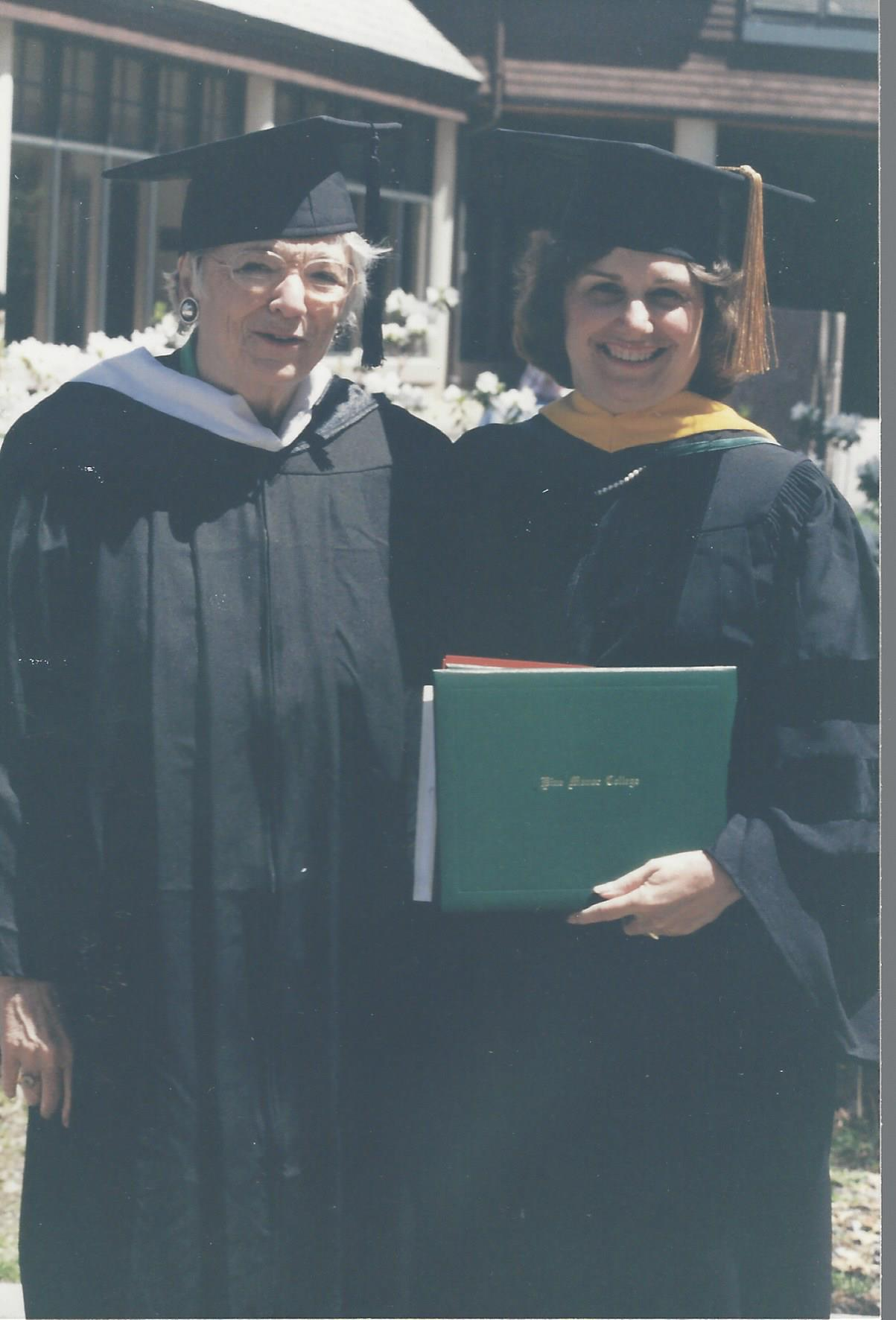 Pine Manor College Honorary Degree with Mary Ann Tinklepaugh Fish at her 50th Reunion (2000)