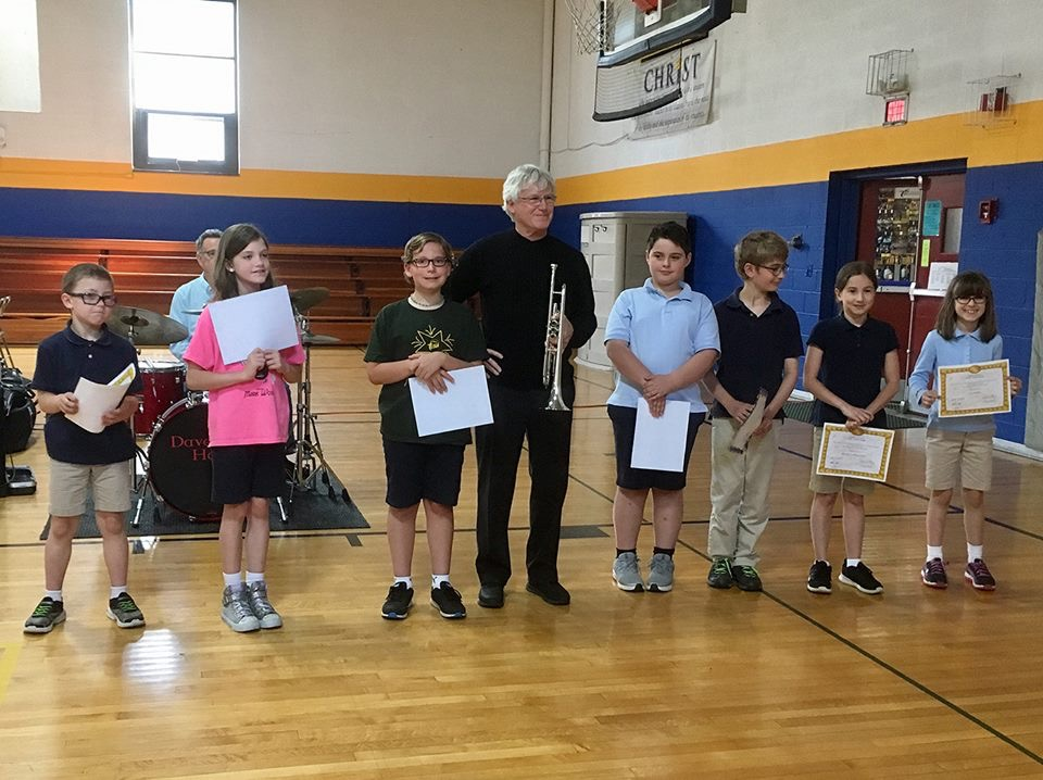 Charlie Bertini with St. Mary's School Music Scholarship Winners (2018)