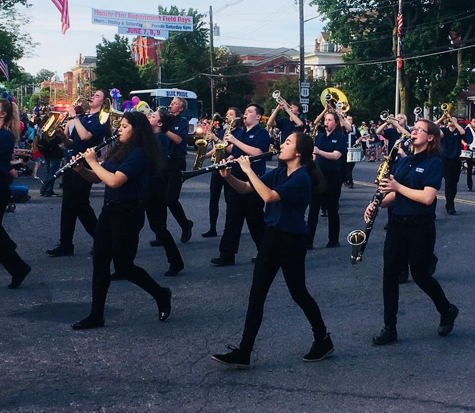 Homer High School Band – Fireman's Field Day Parade (2018)