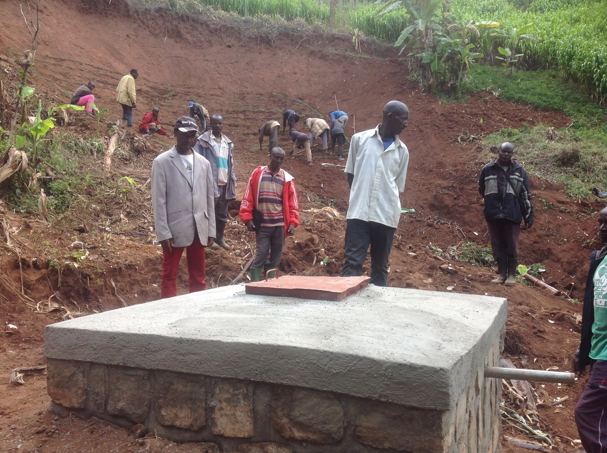 Gasenyi source catchment and collection chamber.JPG