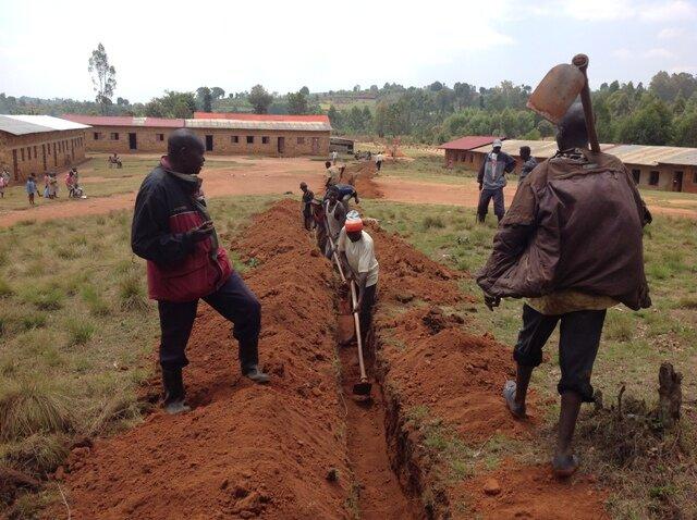 Digging trenches at Kiriza primary school.JPG