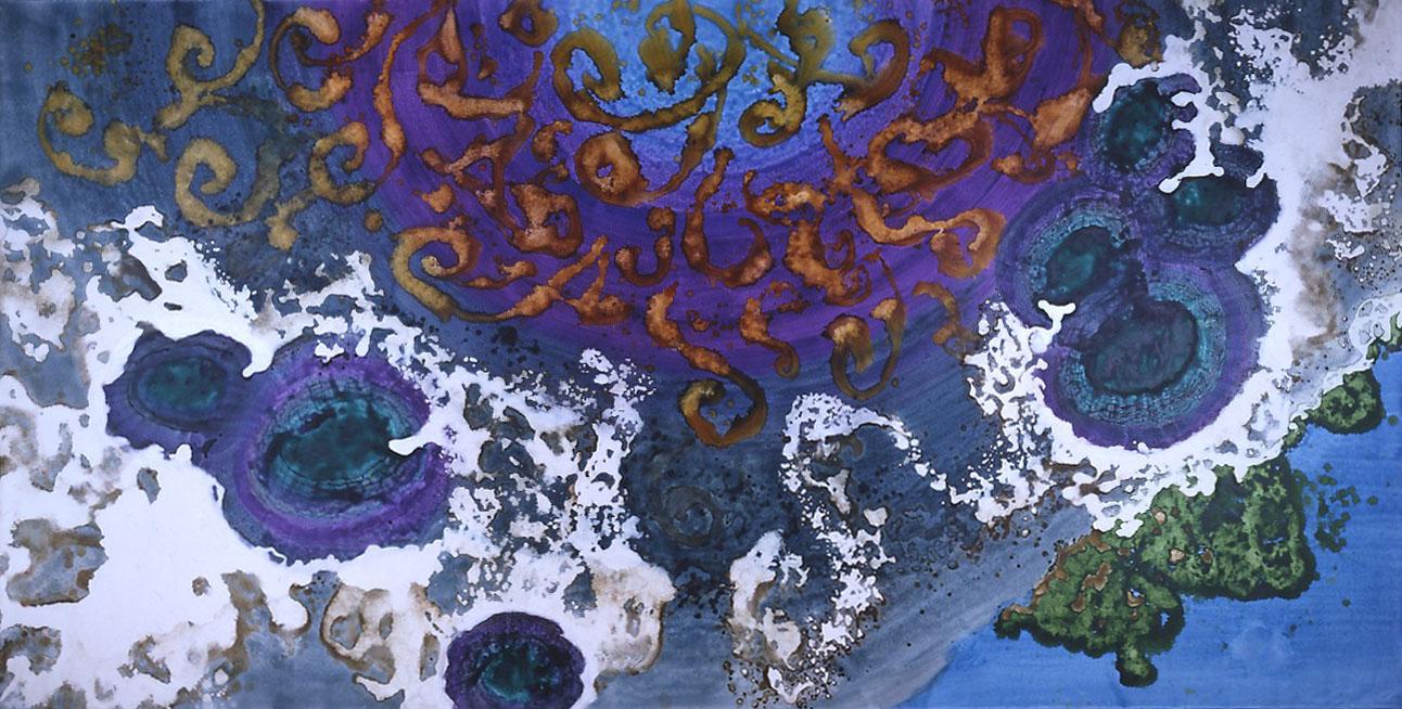 """""""Sunken Treasure"""" 2003, Sunken Treasure Series, acrylic on canvas, 10 x 20 feet (305 x 611 cm)."""
