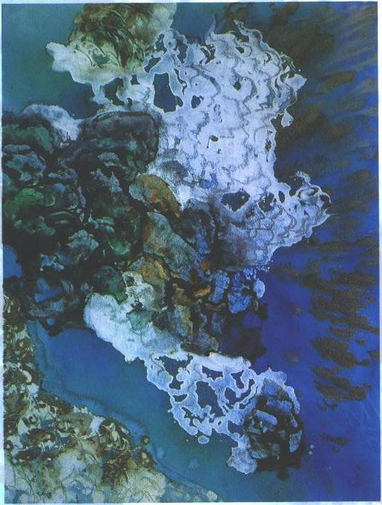 """Deep Sea Sapphire"", Sunken Treasure Series."