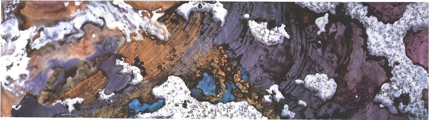 """Glacier Garden"" 1989, Glacier Garden Series, acrylic on canvas, 10 x 36 feet (305 x 1097 cm)."
