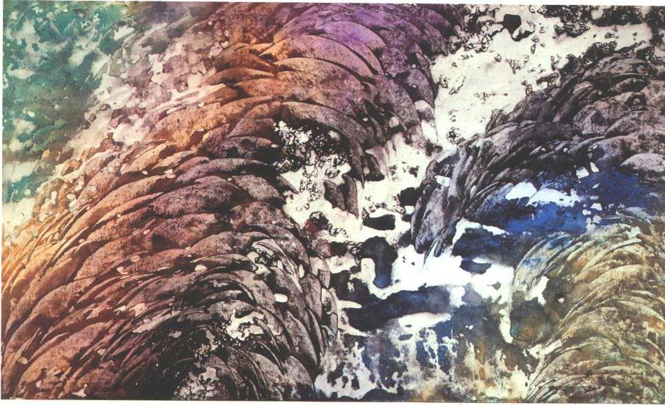 """""""Melting Glacier"""", Glacier Garden Series."""