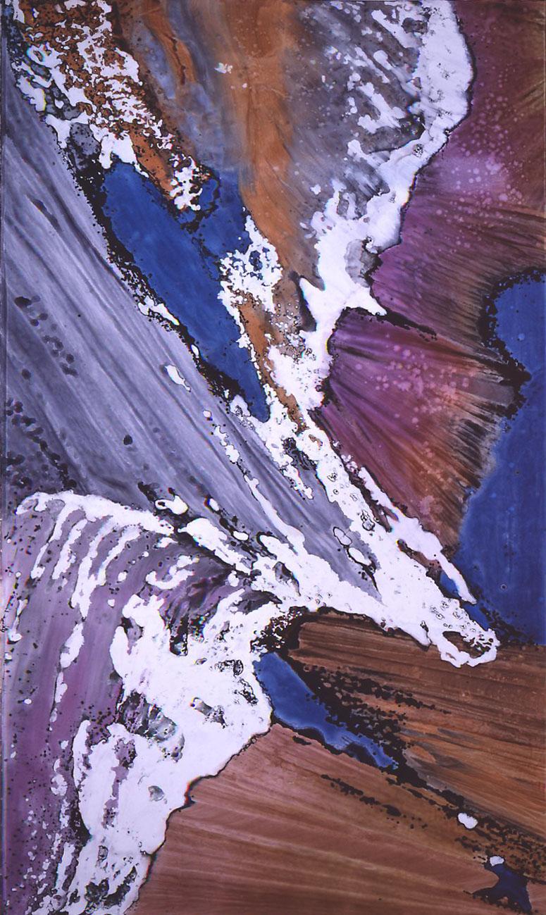 """Glacier Garden I"", Glacier Garden Series, acrylic on canvas, 10 x 18 feet (305 x 549 cm)."