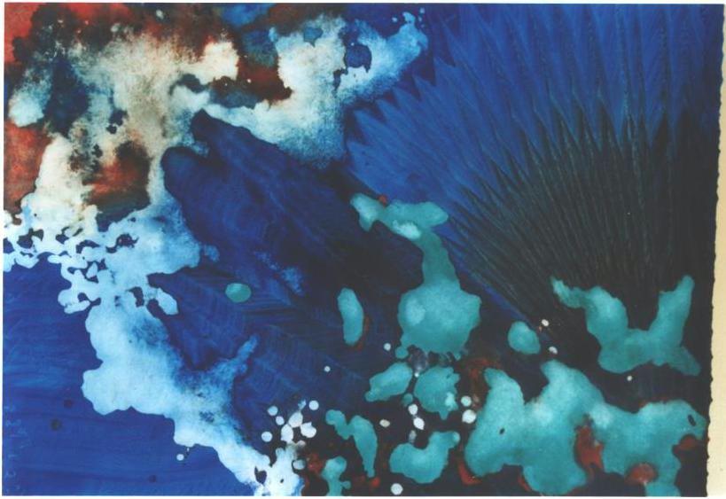 """Deep Sea Peacock"", Turquoise Floating Series."