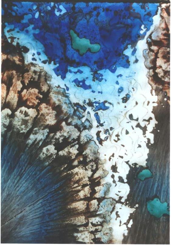 """""""Falling Turquoise"""", Turquoise Floating Series."""