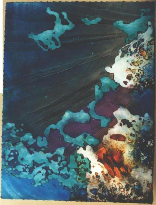 """Turquoise Jellyfish Floating"", Turquoise Floating Series."