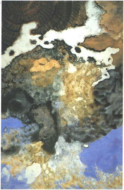 """Running Cloud"" 1988, Cloud as Dog Series, acrylic on canvas, 9 x 6 feet (275 x 183 cm)."