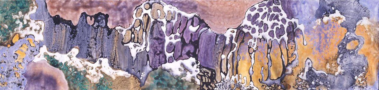 """Earth - Element of Life"" 2004, Cave Garden Series, acrylic on canvas, 8 x 33 feet (244 x 1006 cm)."