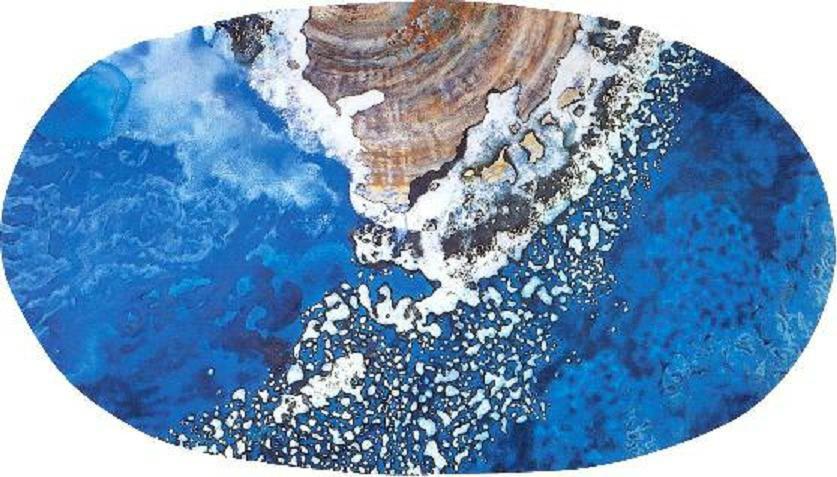 """Milky Way"" 1996, Galaxy and Milky Way Series, acrylic on canvas, Oval 10 x 18 feet (305 x 549 cm)."