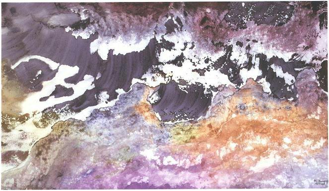 """""""Purple Mushroom"""", Mushroom Cloud Series."""