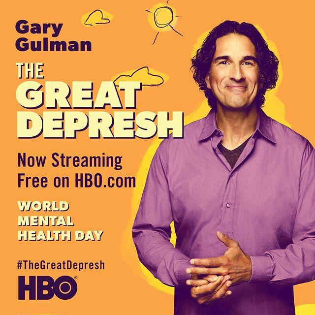 In honor of #WorldMentalHealthDay, watch @GaryGulman: #TheGreatDepresh for free through Saturday (10/12/19), on HBO.com and YouTube.