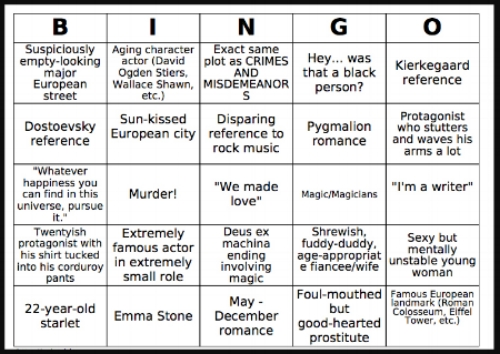 "Can you get a bingo watching ""Interiors?"""