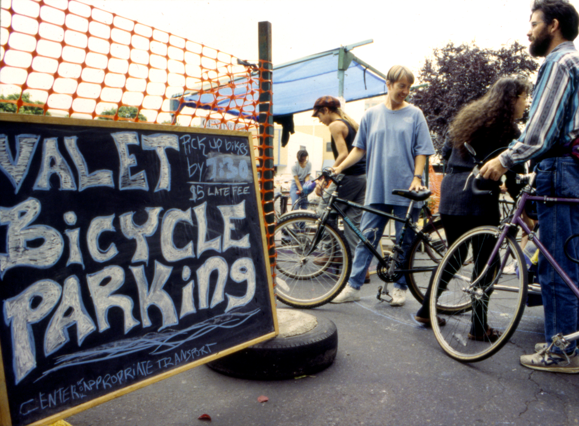 Example of a bike valet setup.