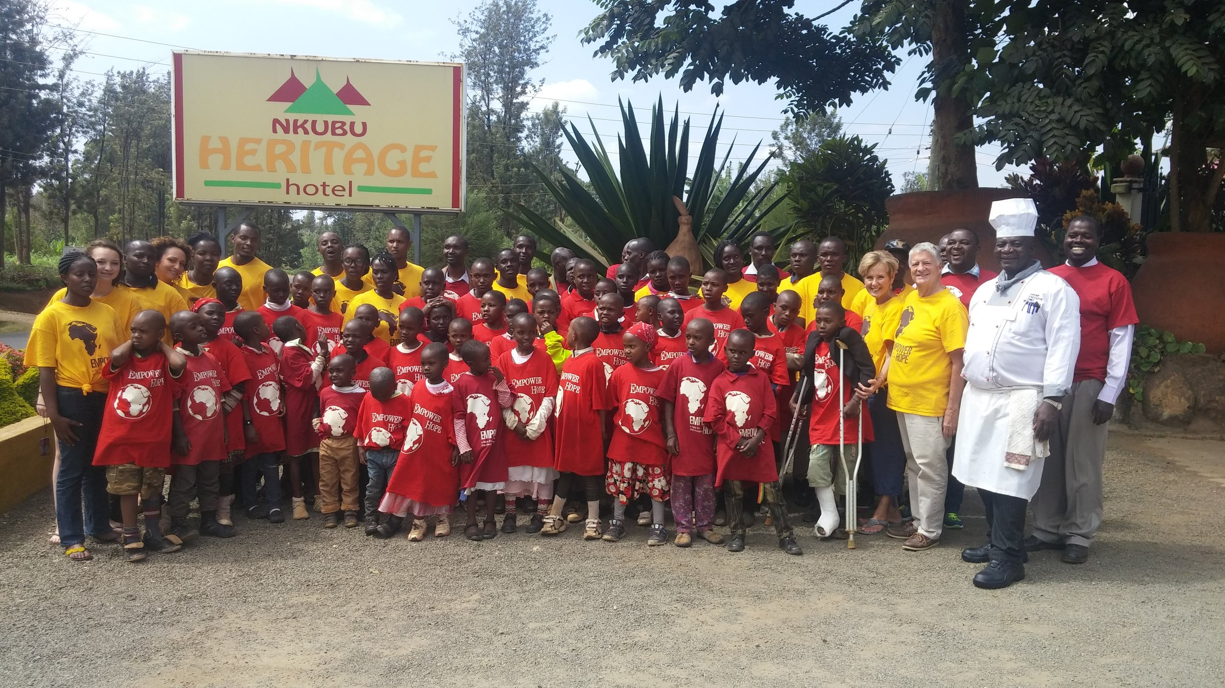 Nkubu Heritage Hotel partners with Empower Hope to bring this event to the children of Acts of Mercy Center