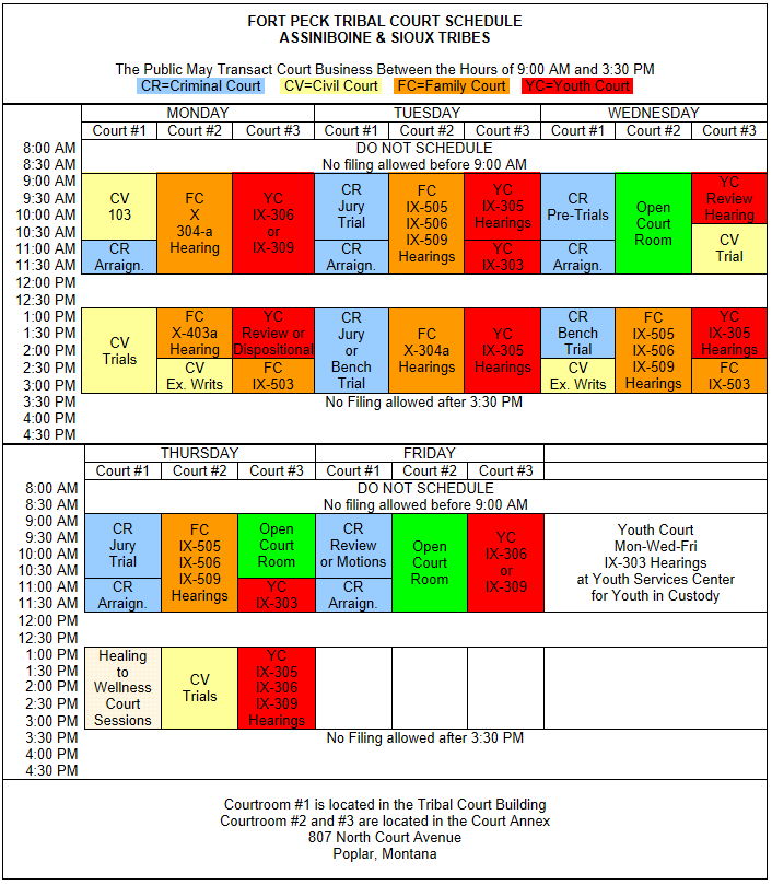 Printable PDF Schedule File