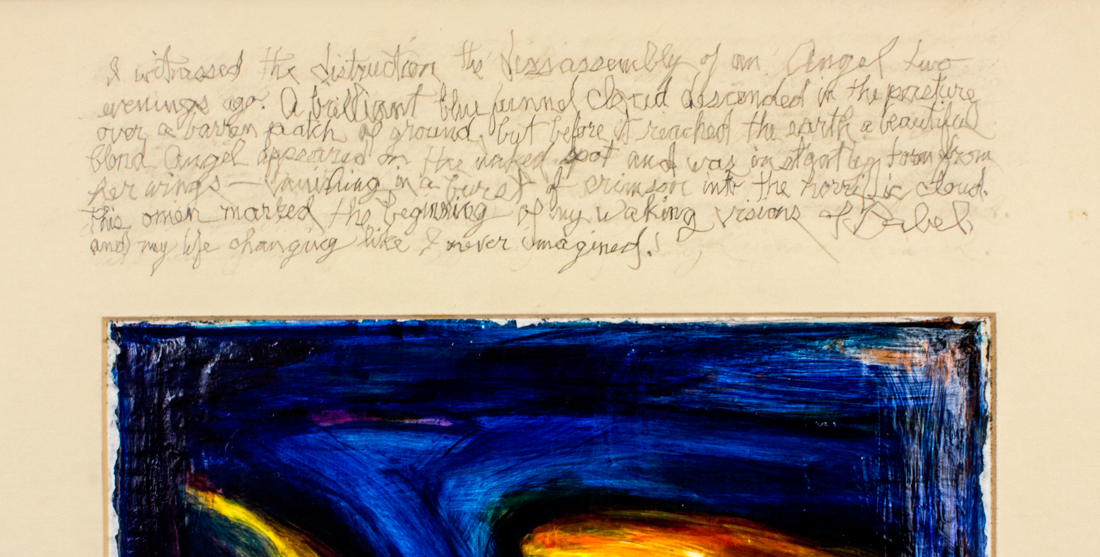 'Visions of Babel in Waller: Angel' - detail of text