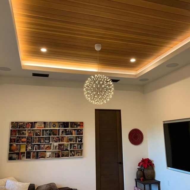 Here you can see some pretty #incredible #carpentry work on this #livingroom #ceiling with #customlighting at a #brentwood  #homemakeover  #remodel www.devitishomes.com #contractor #socal #la #lostangeles #construction #interiordesign