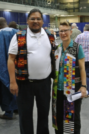 PHOTO: Tony Snow with United Church of Canada Moderator Rev. Jordan Cantwell.