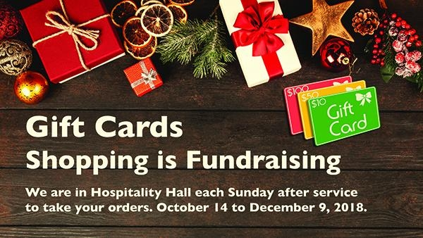 Gift Card Fundraiser - By purchasing your Christmas gifts to family and friends, a percentage is contributed to McDougall's fundraising efforts.Place your order in person on Sundays, or order online: Go to www.fundscrip.com and click on Sign Up. McDougall's invitation code is RSJF3C.