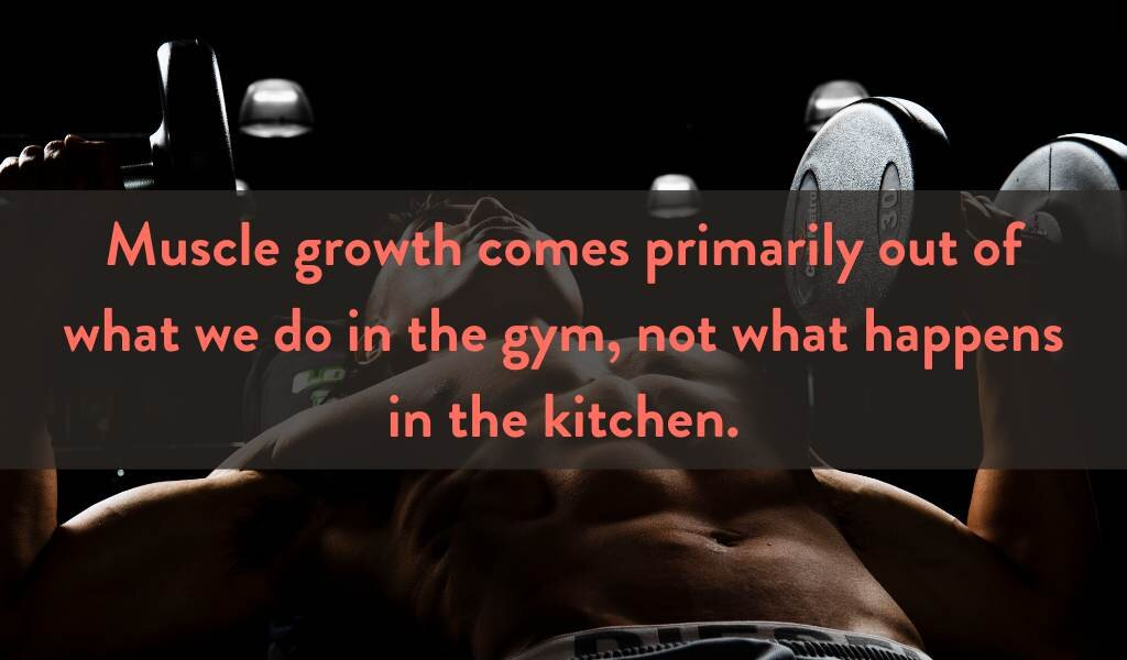 Muscle growth happens in the kitchen