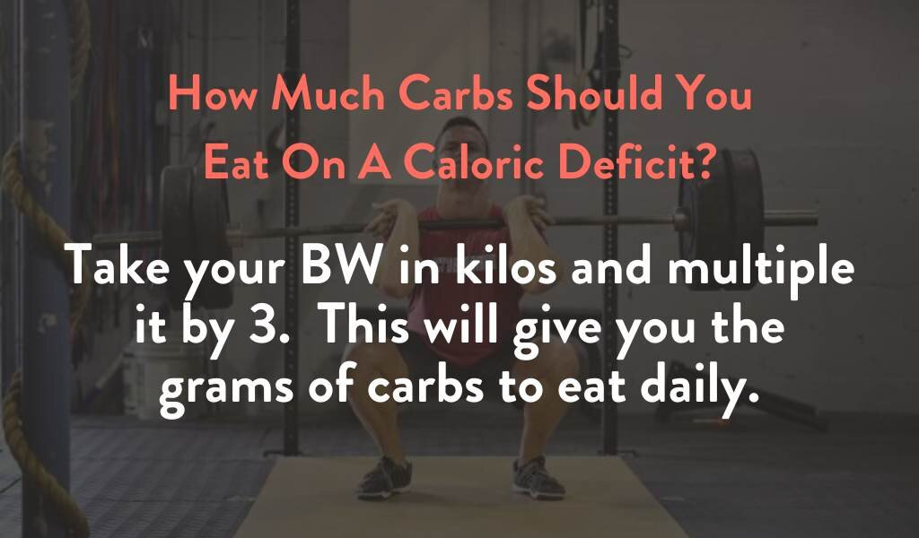 How much carbs should you eat on a caloric deficit?