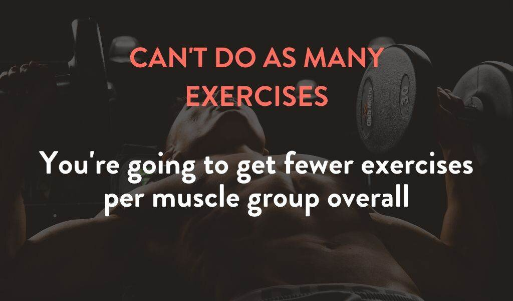 You can't do as many exercises per muscle group if you're lifting once per week