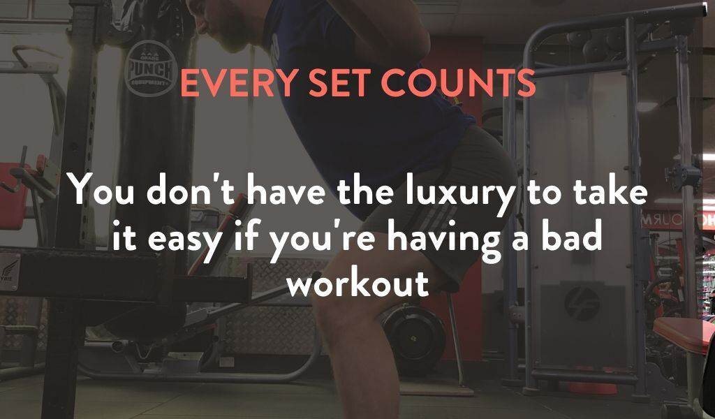 Ever set counts if you're lifting once per week
