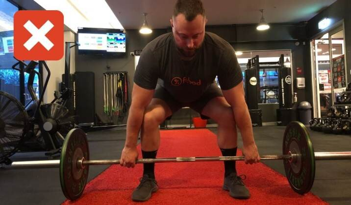 When your feet are too wide you may end up getting sore knees from deadlifting