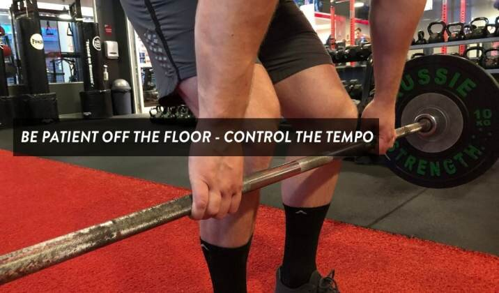 Pulling too fast off the floor can cause knee pain while deadlifting