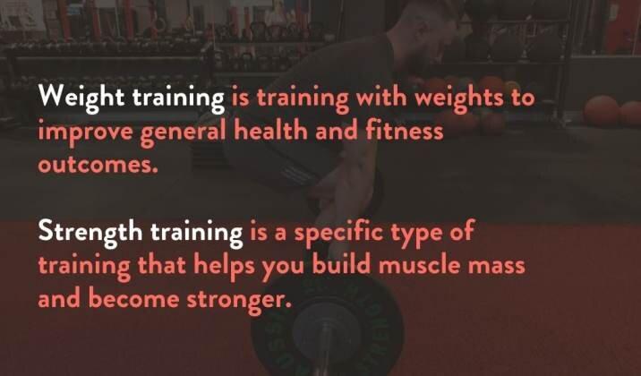 Strenth Training vs. Weight Training