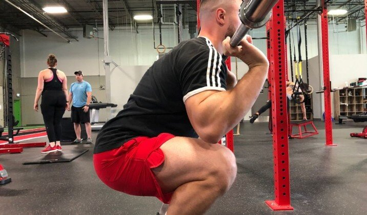 Not having your elbows up when front squatting can cause wrist pain